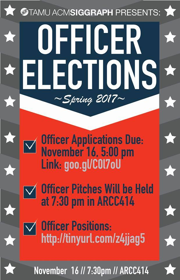 Spring 2017 Officer Elections